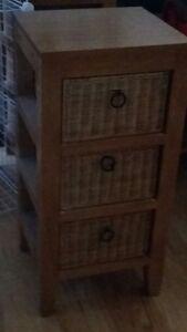 wicker drawers
