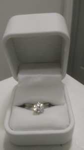 Size 7 Cubic Zirconia Stainless Steel Ring