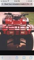 Looking for good cheap four wheeler 4x4 or 2x4 for 400$ to 500$