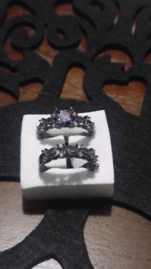 Engagement set. Size 8. Purple stone.