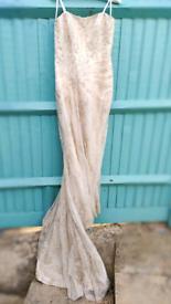 Stunning, fish tail wedding dress and bolero £200 ono