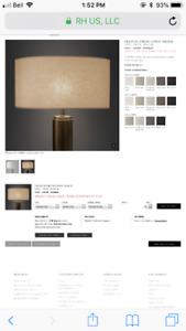 2 Restoration Hardware - Linen lamp shades