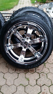"6 Bolt GM 22"" American Racing with P285/45/22 Bridgestones/Trade"