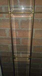Antique glass door