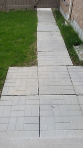 24-in by 30-in Grey Brick Pattern Patio Stone