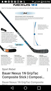 Bauer 1n right handed stick