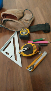 Carpenter's Tool Pouch + Tools