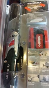 HUSKY DRYWALL SAWS WITH CASE AND EXTRA BLADES