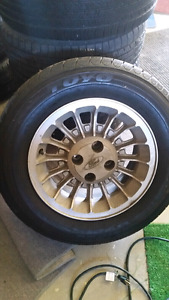 225 60 15 low km tires and rims  fox body mustang
