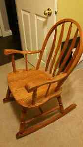 Solid Oak Rocking Chair - asking $110 OBO