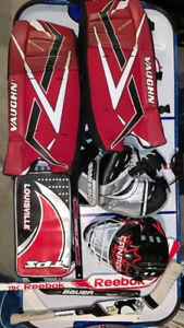 Mini sticks goalie equipment