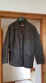 Men's leather jacket, size Medium. Hardly worn
