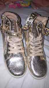 Gold running shoes brand new