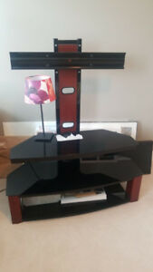 TV stand/entertainment unit with integrated TV mount