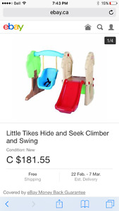 Little Tykes Hide and seek slide and swing