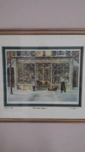 "Trisha Romance "" The Window Shoppers"" Framed"