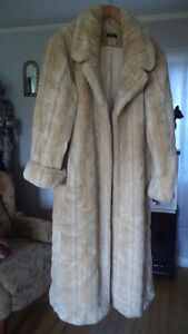 2 Faux Fur Full Length Coats - Like New -$25 ea. or Both for $40