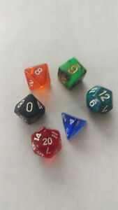 Ass't 6Set Polyhedral RPG Gaming Dice