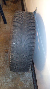 Winter tires with rims are in very good condition