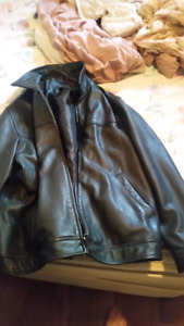 Black leather coat good condition