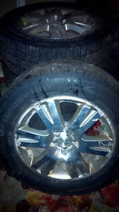 P225-60-16 BF Goodrich Winter Slalom Tires with Rims $500.00