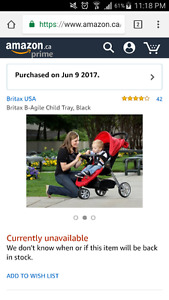 Britax B Agile Tray Attachment BNIB