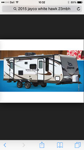 This is an rv trailer for rent