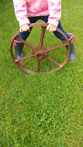 Small antique wheel