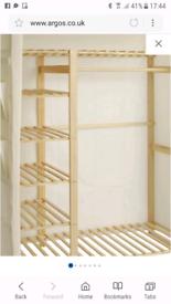 Canvas wardrobe