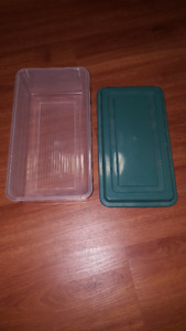 Plastic Storage Bins / Containers  (Shoe Size)  with Lids