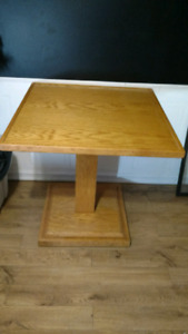Oak multi use table and matching chair
