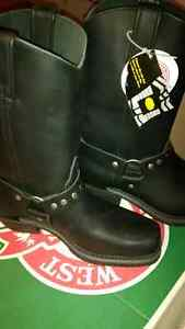 New Canada West Black Biker Boots Size 8.5