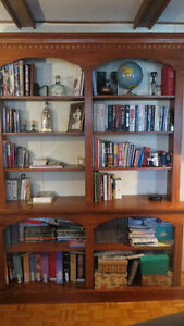 Bookcase, Tables, Desk, Lamp, Glass display buffet, Hutch etc.
