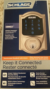 Schlage Connect Touchscreen Deadbolt with Alarm