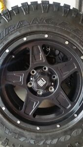 4 NEW FRD TR5 RIMS WITH GOODYEAR DURATRACS LT265/70/17