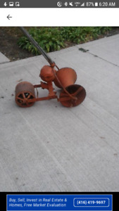 Vintage turnip planter
