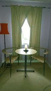 Conversation Furniture Modern Bistro Table/Chairs Dining Set