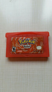 Pokemon Fire Red for the GameBoy Advance GBA
