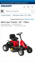 MISSING! Red and Black yard works mini tractor (riding mower)