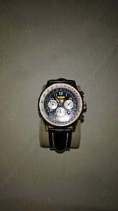 Authentic classic 24k gold Breitling Navitimer