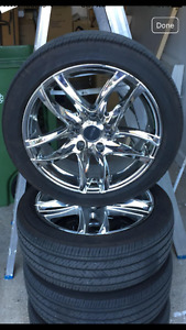 """17"""" on 7"""" chrome mags with summer tires"""