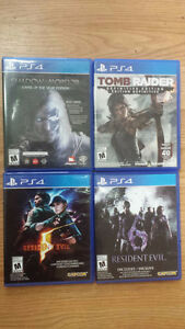PS4 GAMES tomb raider resident evil shadow mordor