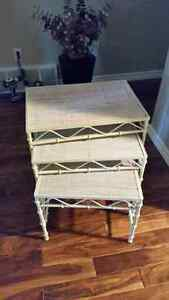 Stacking Tables, Wheeled Cart & Mirror