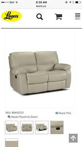 Reclining leather sofa, loveseat and chair. Peterborough Peterborough Area image 7