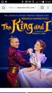 """4 tickets to """"The King and I"""" musical in Toronto"""