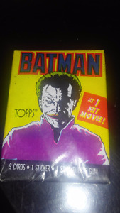 Batman and Robin trading cards sealed,