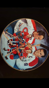 Hockey Legends Autographed Collector Plates