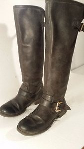 STEVE MADDEN bottes  cuir - leather boots - taille 38 femme