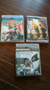 3 PlayStation PS3 games in excellent shape
