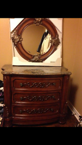 Marble Hutch and Mirror
